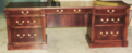 New mahogany credenza built to match existing desk in all ways.